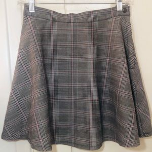American Apparel Gray Gingham Plaid Circle Skirt M